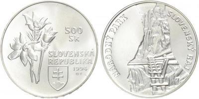 500 Sk 1994 - Národní park Slovenský ráj, běžná kvalita