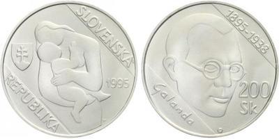 200 Sk 1995 - Mikuláš Galanda, bežná kvalita