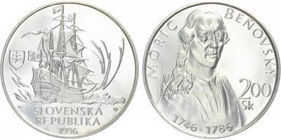 200 Sk 1996 - Móric Beňovský, běžná kvalita