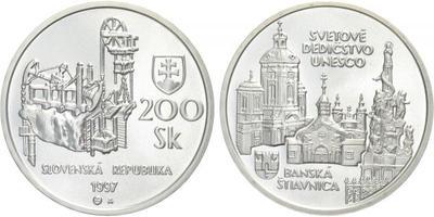 200 Sk 1997 - UNESCO - Banská Štiavnica, běžná kvalita