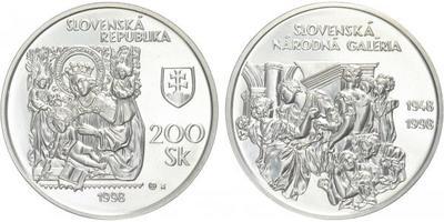 200 Sk 1998 - Slovenská národní galerie, běžná kvalita