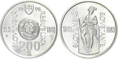 200 Sk 1998 - Slovenské povstání 1848 - 1849, bežná kvalita