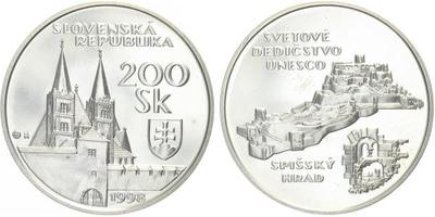 200 Sk 1998 - UNESCO - Spišský hrad, bežná kvalita