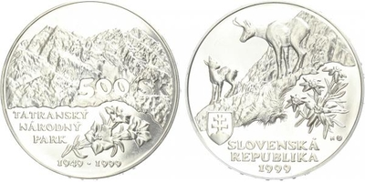 500 Sk 1999 - Tatranský národní park, běžná kvalita