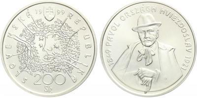 200 Sk 1999 - Pavol Országh Hviezdoslav, bežná kvalita