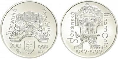 200 Sk 1999 - Slovenská filharmonie, bežná kvalita