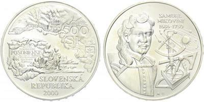 500 Sk 2000 - Samuel Mikovíni, běžná kvalita