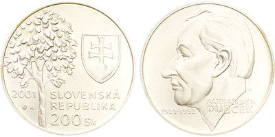 200 Sk 2001 - Alexander Dubček, bežná kvalita