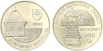 200 Sk 2002 - UNESCO - Vlkolínec, běžná kvalita