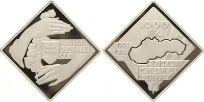 1000 Sk 2003 - 10. výročí vzniku SR, PROOF