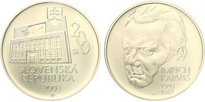 200 Sk 2003 - Imrich Karvaš, bežná kvalita