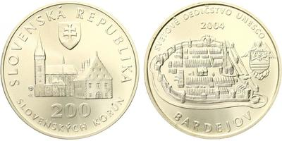 200 Sk 2004 - UNESCO - Bardejov, běžná kvalita