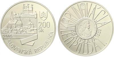 200 Sk 2005 - Korunovace Leopolda I. v Bratislavě, běžná kvalita