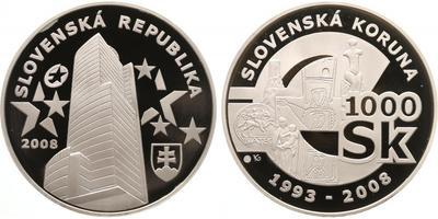 1000 Sk 2008 - Rozloučení se Slovenskou korunou, PROOF