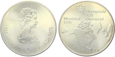 5 Dollar 1973 - OH Montreal 1978, Ag 0,925 (24,3 g), běžná kvalita