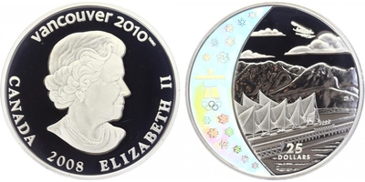 25 Dollar 2008 - OH Vancouver 2010, PROOF