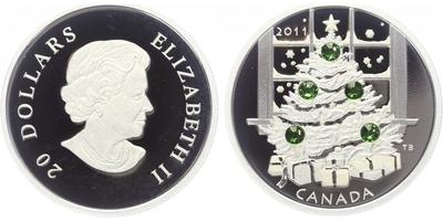 Kanada, 20 Dollar 2011 - Vánoční stromeček, PROOF