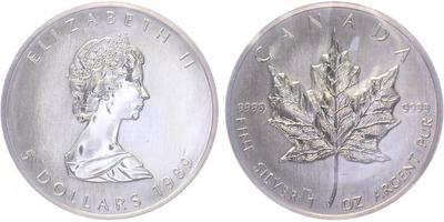 5 Dollar 1989 - Maple Leaf