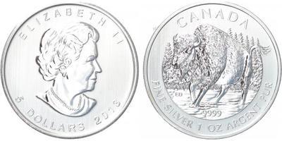 5 Dollar 1993 - Ag 0,9999 (31,1 g), 1 OZ