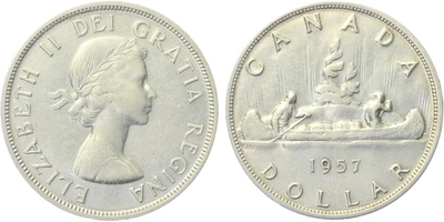 Dollar 1957 - British Columbia