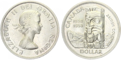 Dollar 1958 - British Columbia