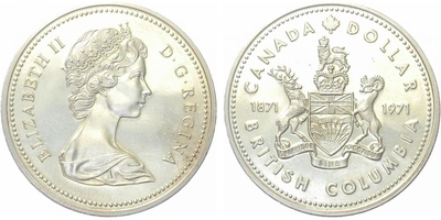Kanada, Dollar 1971 - 100 let Britrsé Kolumbie