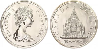 Dollar 1976 - 100. výročí parlamentní knihovny, PROOF