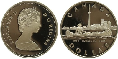 Dollar 1984 - Toronto 1984, PROOF