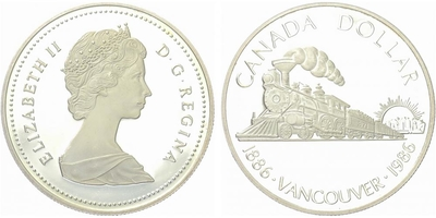 Dollar 1986 - Vancouver 1886 - 1986, PROOF