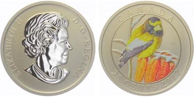 25 Cents 2012 - zlatý kanárek