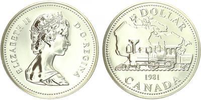Kanada, Dollar 1982 - transkontinentální železnice