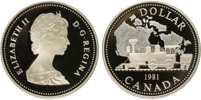 Kanada, Dollar 1982 - transkontinentální železnice, PROOF