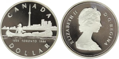 Dollar 1984 - Toronto 1834 - 1984, PROOF