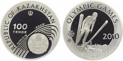100 Tenge - Olympijské hry 2010, PROOF