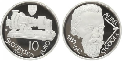 10 Euro 2009 - Aurel Stodola, PROOF