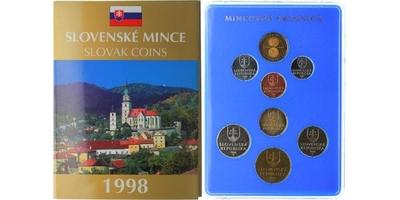 Ročníková sada mincí 1998