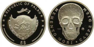 Palau, 5 Dollar 2010 - Memento mori, PROOF
