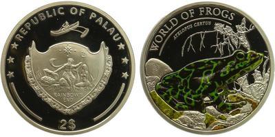 Palau, 2 Dollar 2011 - Světové žáby, PROOF