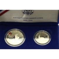Set 2 ks pamětních mincí 1986 - 100. výročí sochy svobody, Dollar Ag 0,900,