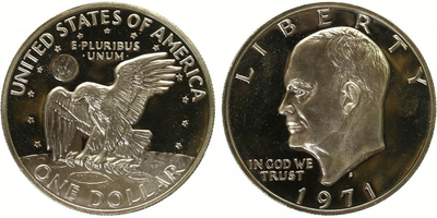 1 Dollar 1971 - Eisenhower dollar, PROOF