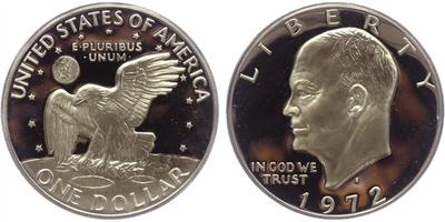 1 Dollar 1972 - Eisenhower, PROOF