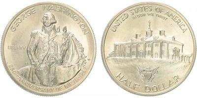 USA, 1/2 Dollar 1982 - 250. výročí narození George Washingtona, běžná kvalita