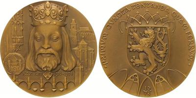 AE Medaile 1978 - 600. úmrtí Karla IV.