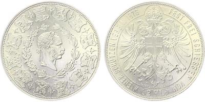 AR Medaile 1973 - 2 Zlatník 1873/ R 1973, Cena střeleckých závodů ve Vídni