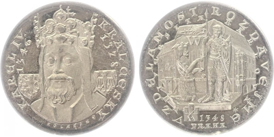 AR Medaile 1978 - Karel IV., Universita Karolina, PROOF