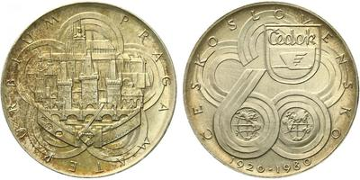 AR Medaile 1980 - Čedok - 60. výročí, Ag 0,900, 35 mm (24,96 g), puncováno