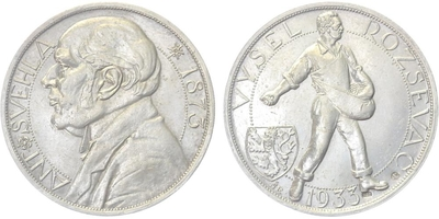 Josef Šejnost, medaile 1933 - Sntonín Švehla, Ag