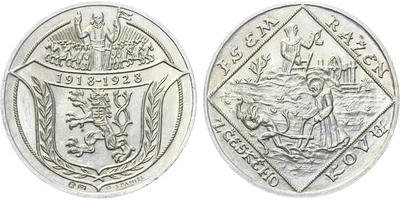 AR Medaile 1928 - 10. výročí Československé republiky - Jsem ražen z Českého kovu
