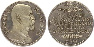 Masaryk, AR Medaile 1935 - 85. vyročí narození T. G. Masaryka, 50 mm, lesklá