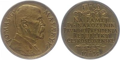 AE Medaile 1935 - 85. vyročí narození T. G. Masaryka, etue